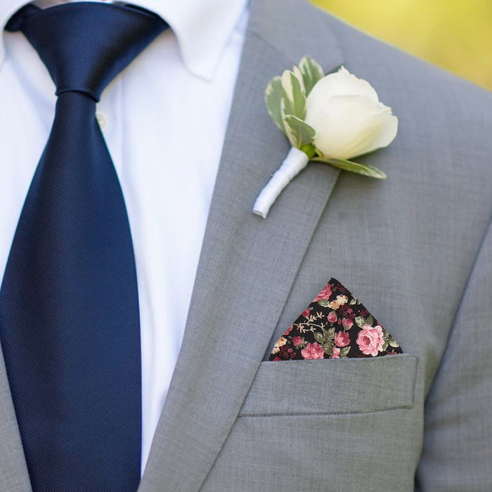 Crawford in Pink Pocket Square - - Pocket Squares and Handkerchiefs by Mrs Bow Tie