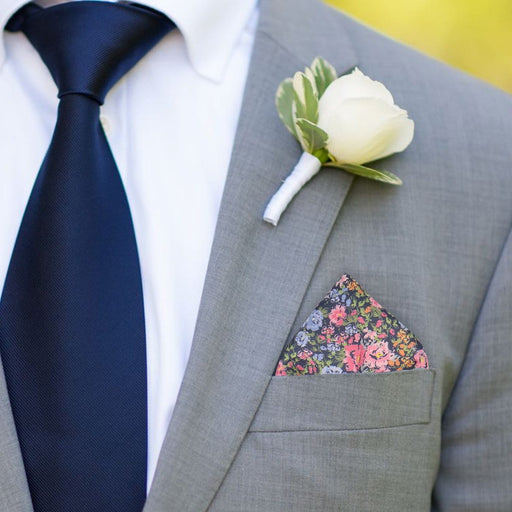 Alfriston in Blue Pocket Square - - Pocket Squares and Handkerchiefs by Mrs Bow Tie