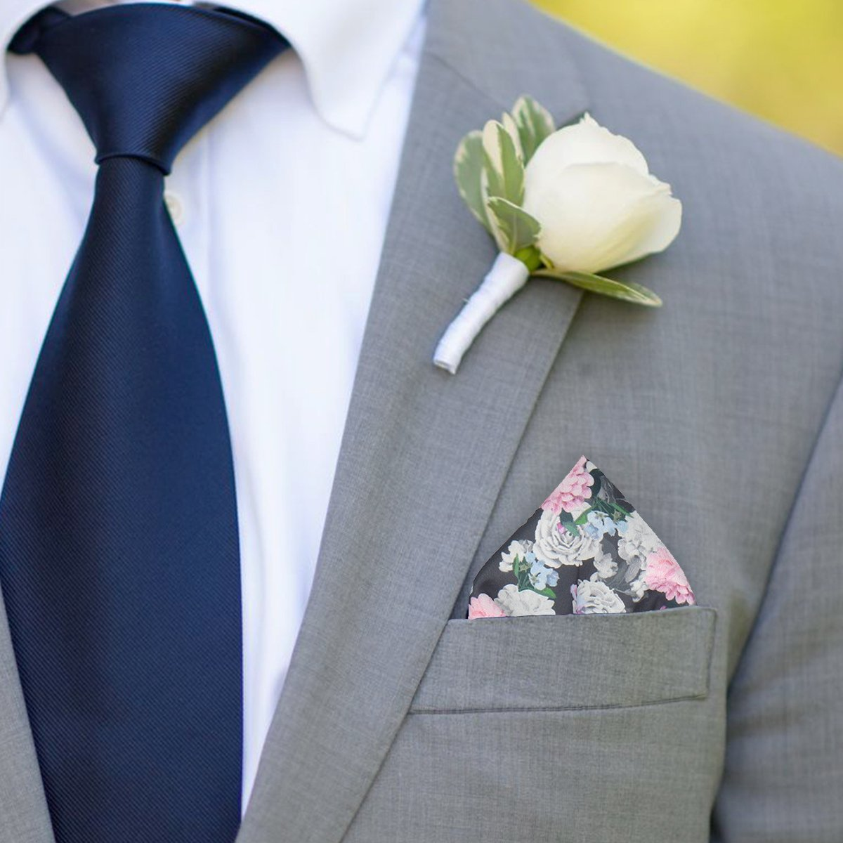 Rosemoor in Multi Pocket Square