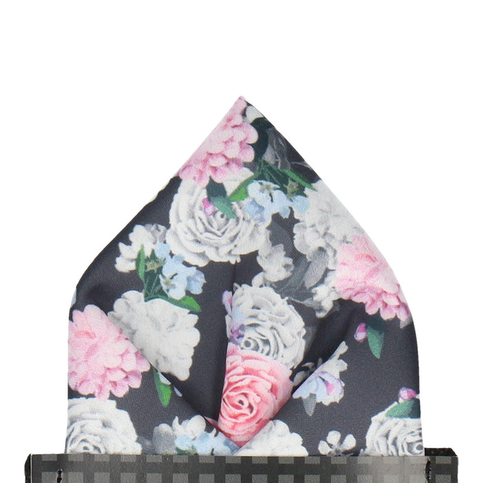 Rosemoor in Multi Pocket Square - - Pocket Squares and Handkerchiefs by Mrs Bow Tie