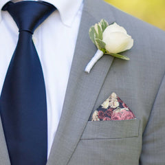 Stourhead in Pink Pocket Square