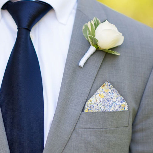 Achamore in Blue Pocket Square - - Pocket Squares and Handkerchiefs by Mrs Bow Tie