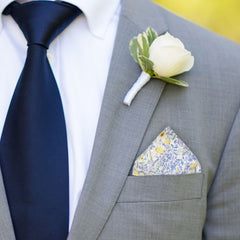 Achamore in Blue Pocket Square