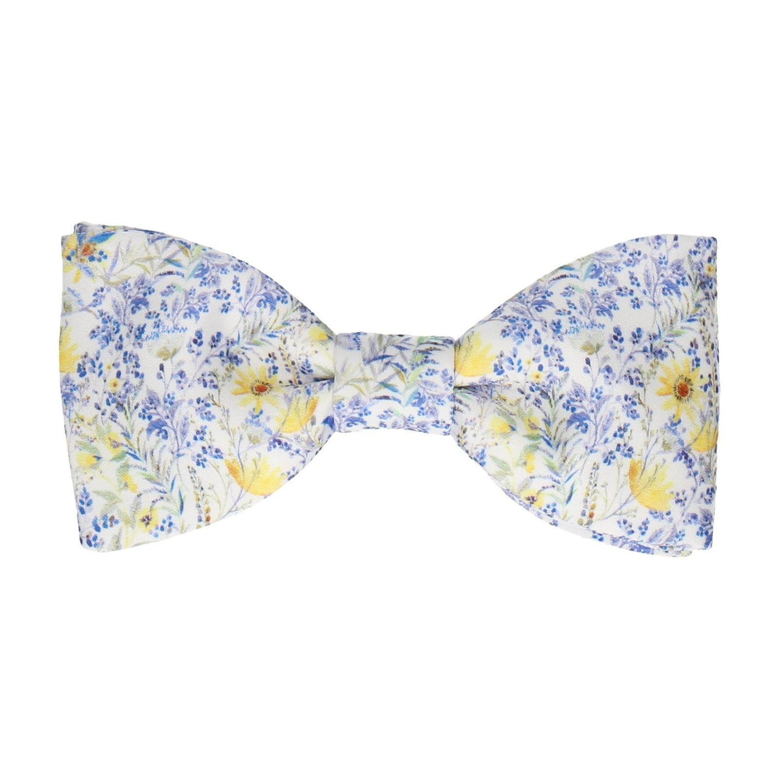 Light Blue & White Floral Bow Tie