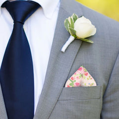 Chintz in Pink Pocket Square