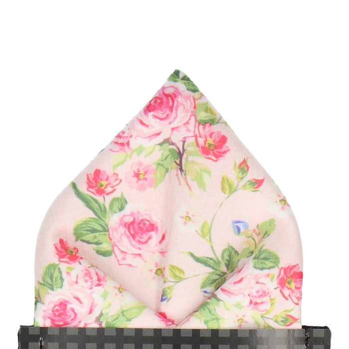 Chintz in Pink Pocket Square - - Pocket Squares and Handkerchiefs by Mrs Bow Tie