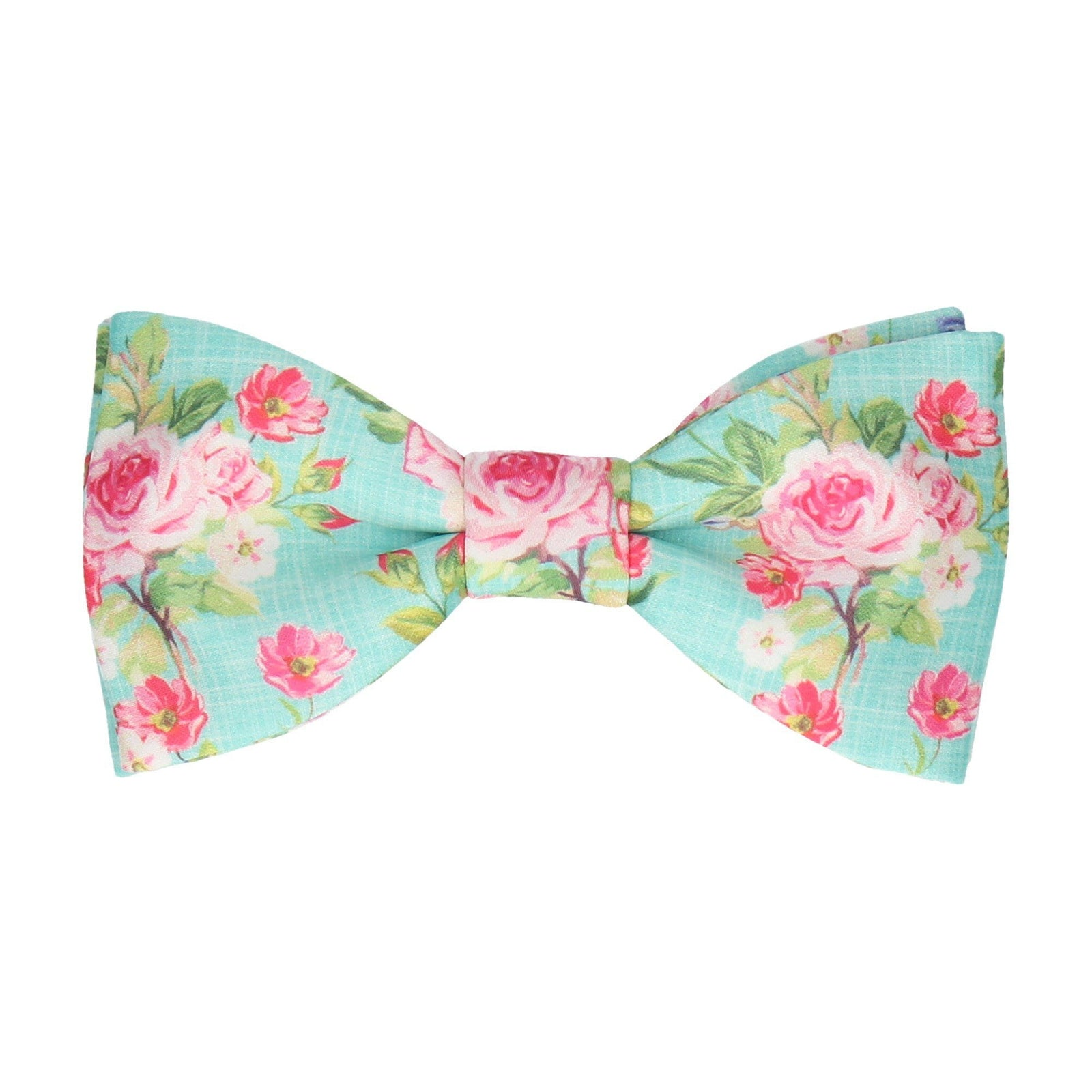 Sea Green Floral Chintz Bow Tie