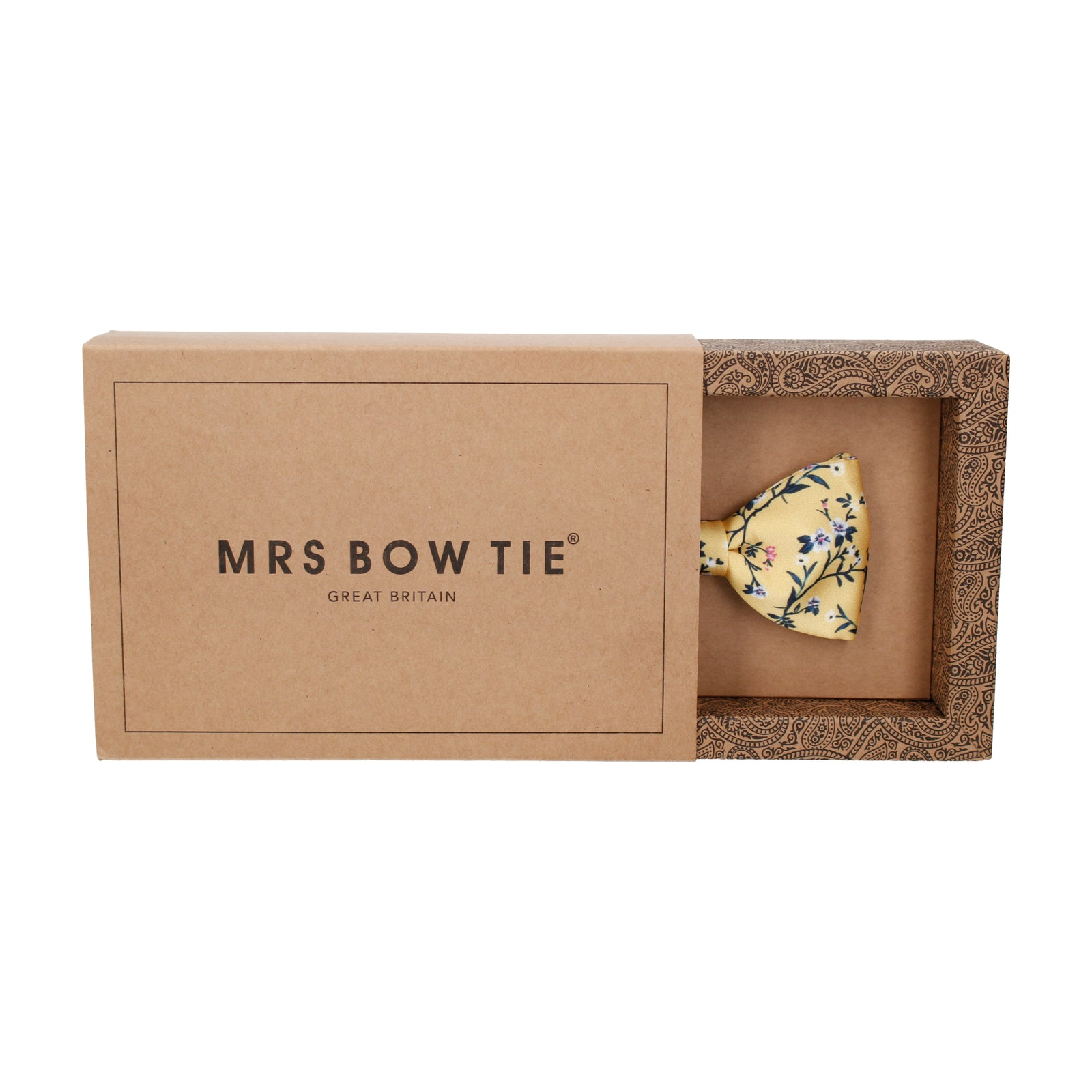 Yellow Blossom Floral Bow Tie