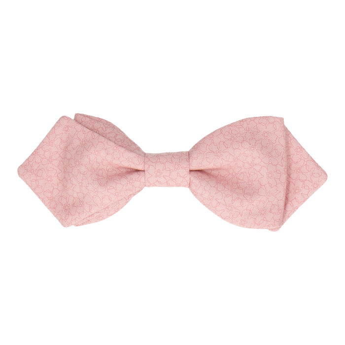 Weston in Pink Bow Tie -Diamond Point-Pre-Tie- - bowties by Mrs Bow Tie