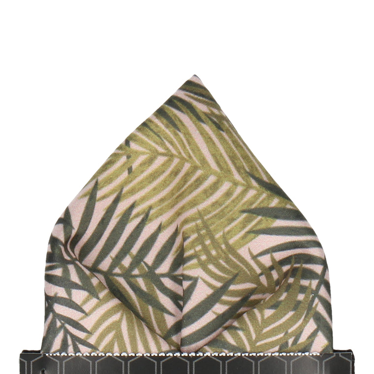 Dark Green Rainforest Pocket Square