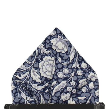 Abington Floral Blue Pocket Square