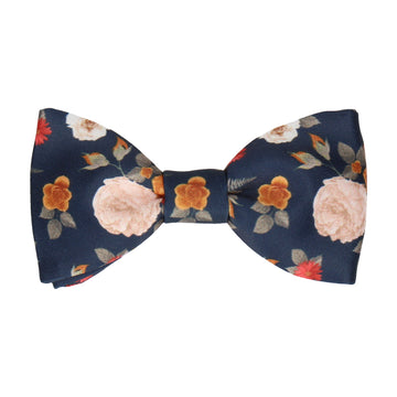 Abbotts Floral Navy Blue Bow Tie