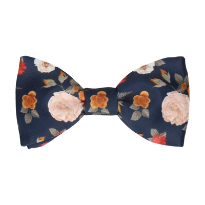 Floral Navy Blue Bow Tie