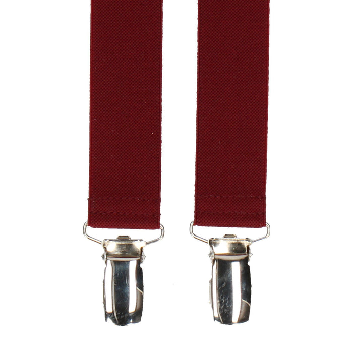 Classic in Burgundy Braces - Suspenders / Braces by Mrs Bow Tie