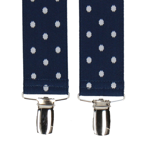 Broxton in French Navy Braces - Suspenders / Braces by Mrs Bow Tie