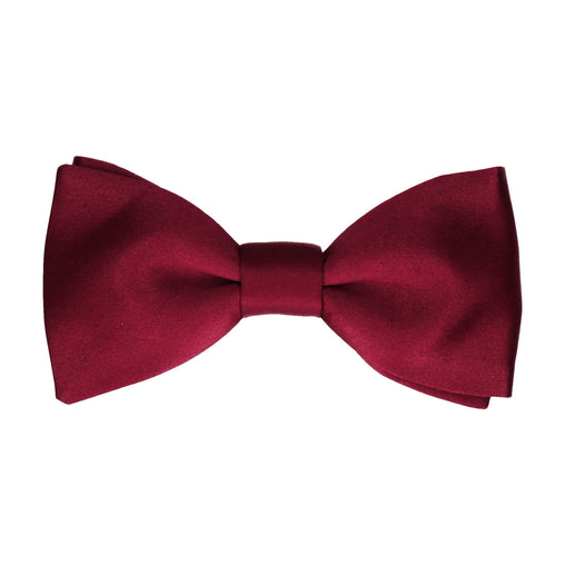 Satin Wine Red Bow Tie