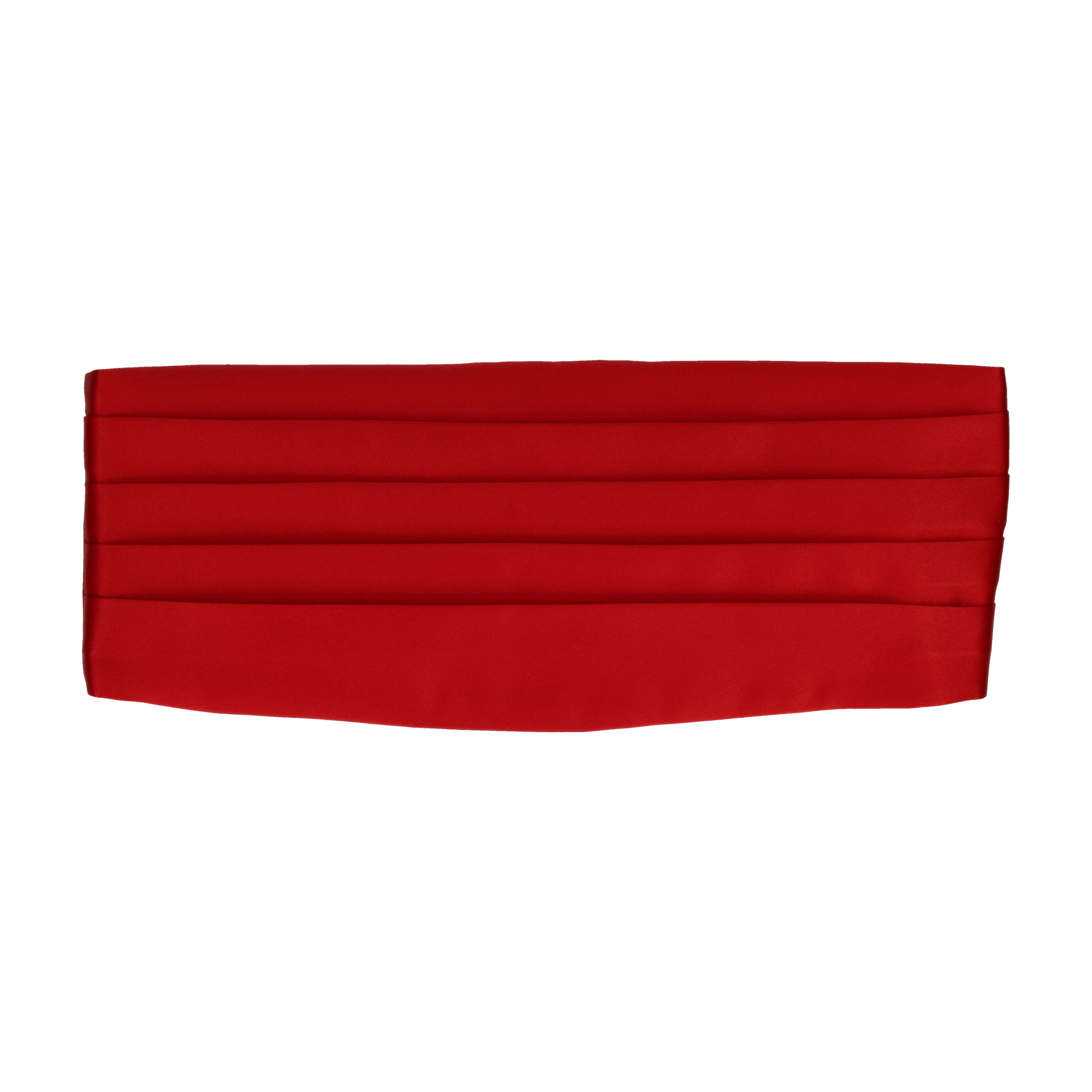 Satin in Vermillion Red Cummerbund
