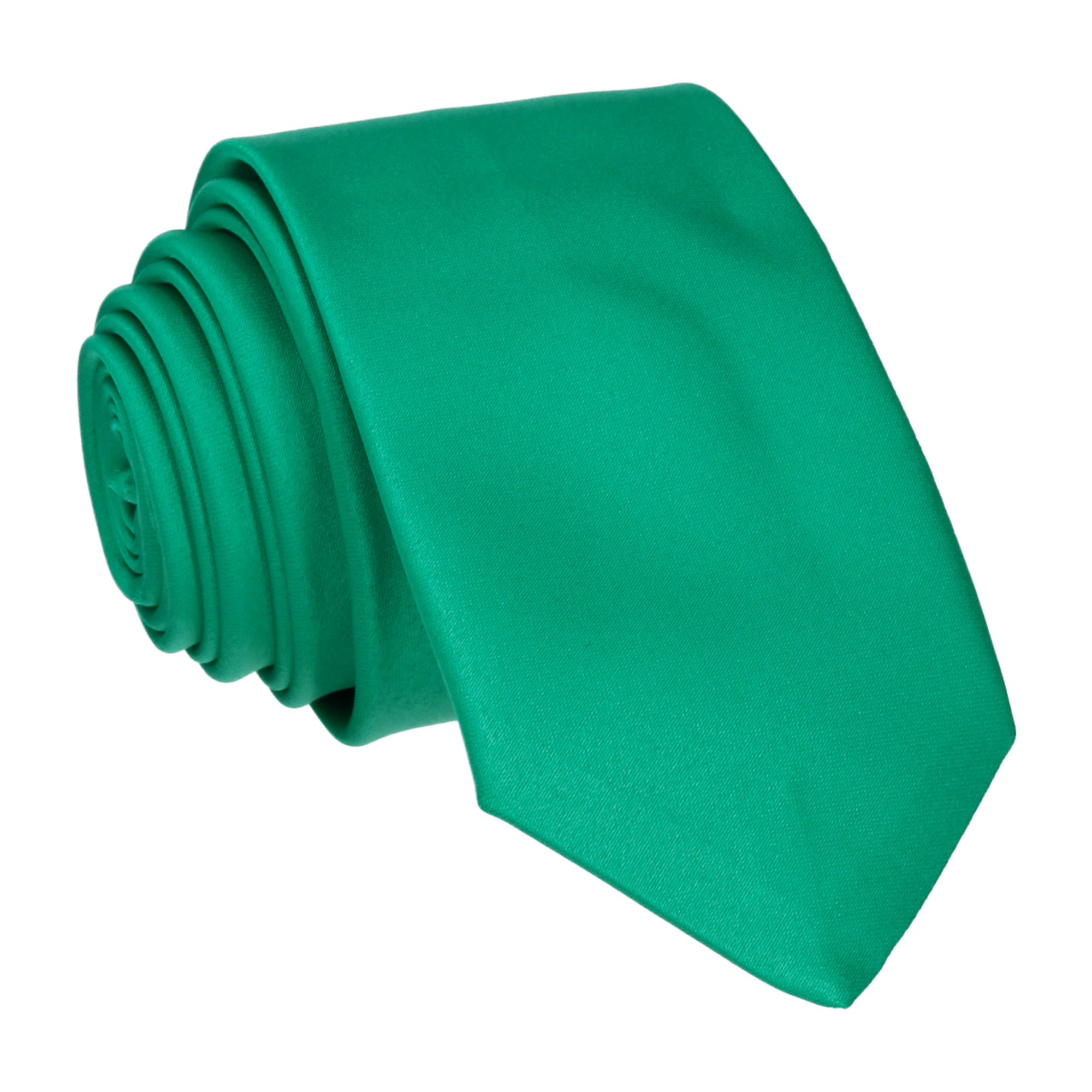 Satin in Emerald Tie