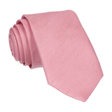 Blush Pink Faux Silk Skinny Tie (Outlet)