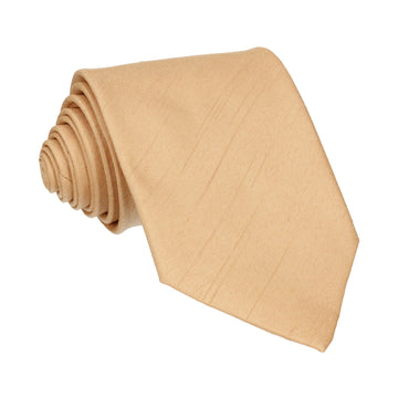 Soft Gold Faux Silk Tie