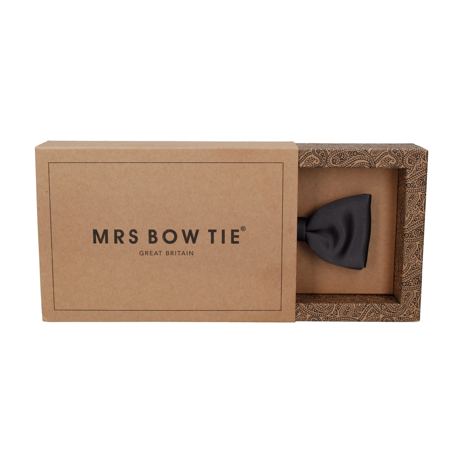 Plain Solid Gunmetal Grey Satin Bow Tie