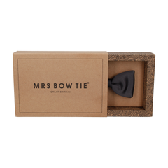 Satin in Gunmetal Grey Bow Tie