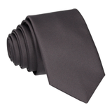 Satin in Gunmetal Grey Tie