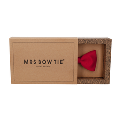 Satin in Crimson Red Bow Tie