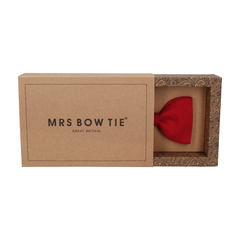 Faux Silk in Pillar Box Red Bow Tie