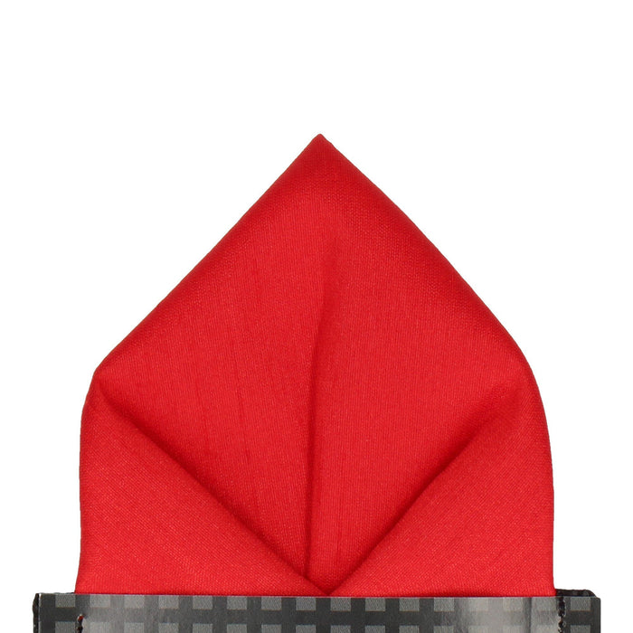Faux Silk in Pillar Box Red Pocket Square - - Pocket Squares and Handkerchiefs by Mrs Bow Tie