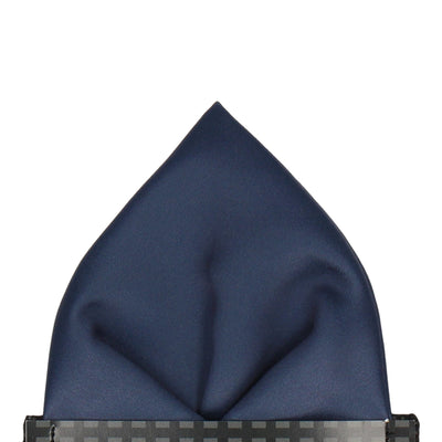 Plain Solid Navy Blue Pocket Square