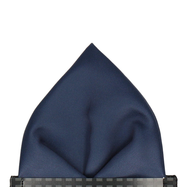 Classic in Navy Blue Pocket Square