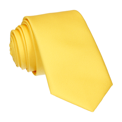 Plain Solid Yellow Tie