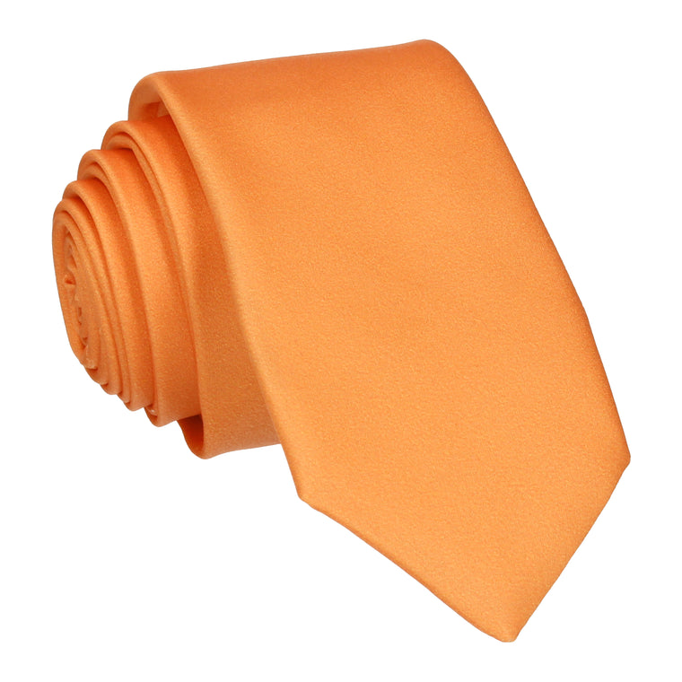 Plain Solid Orange Tie