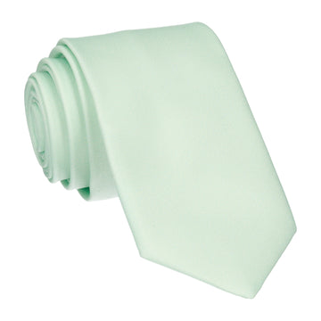 Plain Solid Mint Green Tie