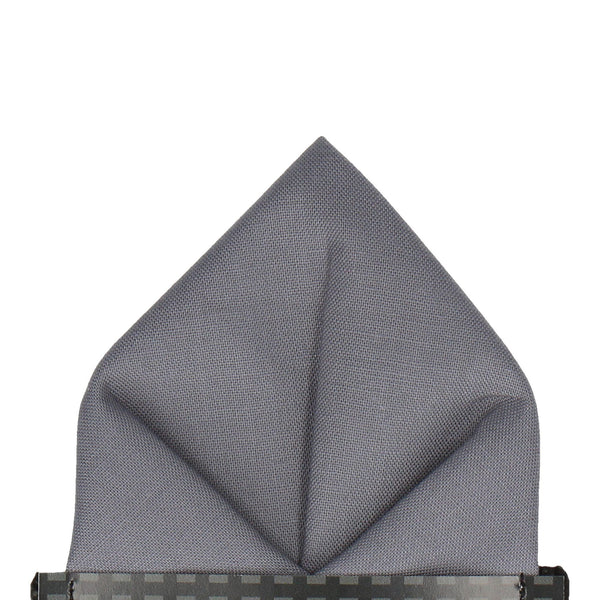 Cotton in Steel Grey Pocket Square