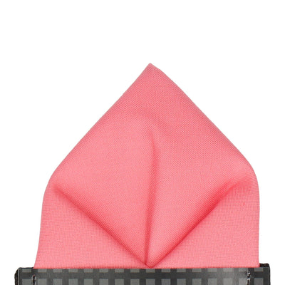 Cotton Cantaloupe Melon Pink Pocket Square