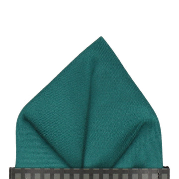 Cotton Everglade Green Pocket Square