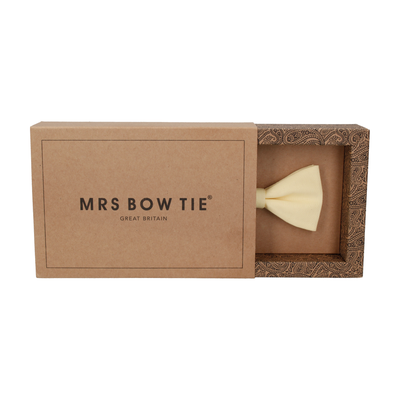 Cotton in Pale Yellow Bow Tie