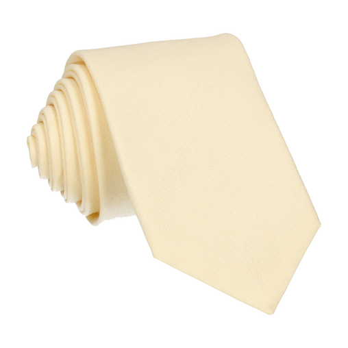 Cotton in Pale Yellow Tie