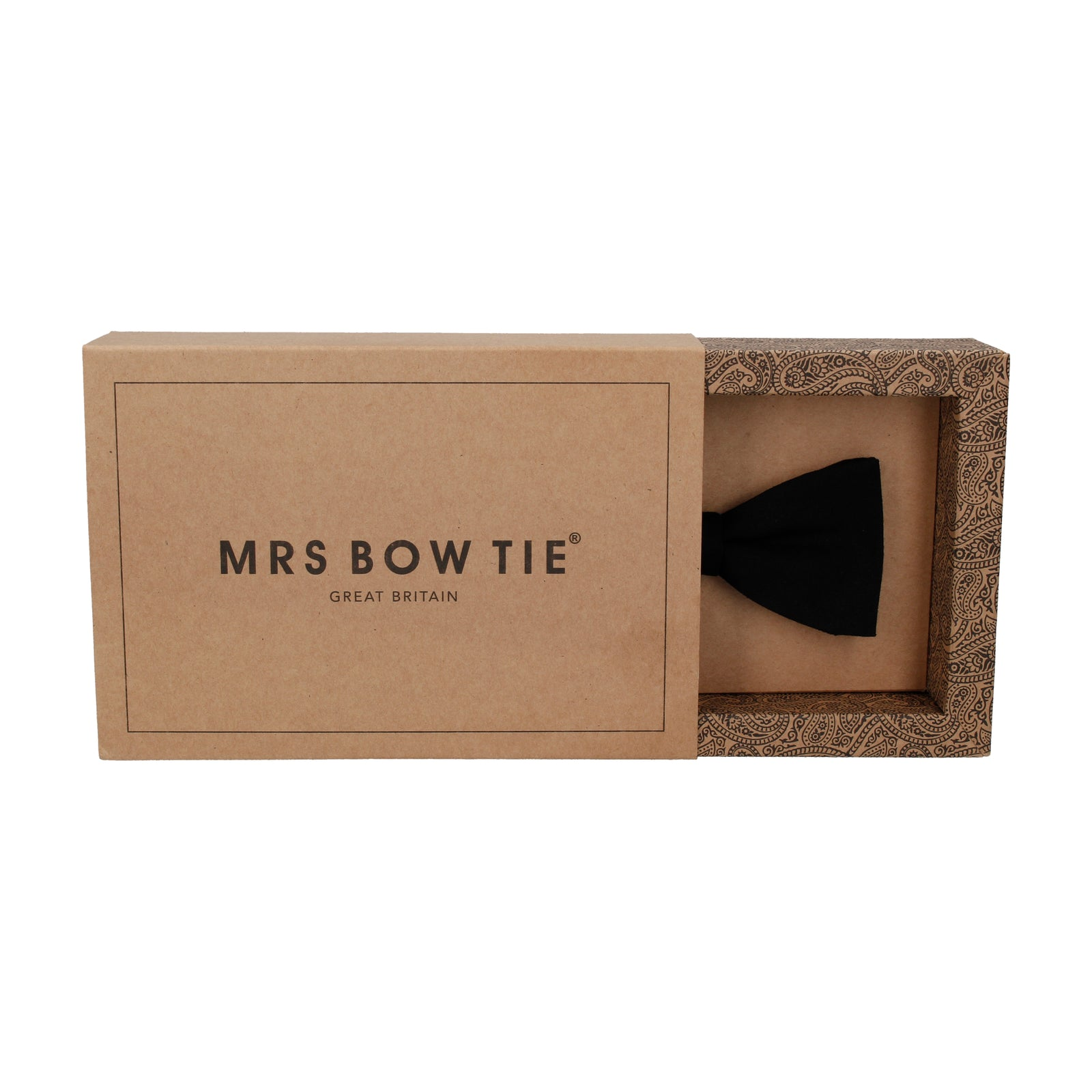 Cotton Jet Black Bow Tie