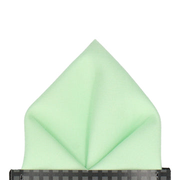 Cotton Mint Green Pocket Square