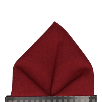 Cotton Port Red Pocket Square