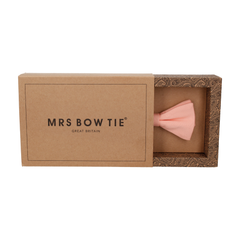 Cotton Salmon Pink Bow Tie