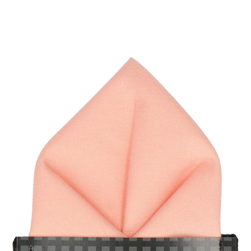 Cotton Salmon Pink Pocket Square
