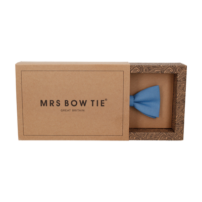 Cotton in Summer Sky Bow Tie