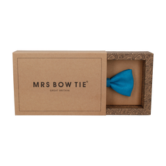 Faux Silk Peacock Blue Bow Tie