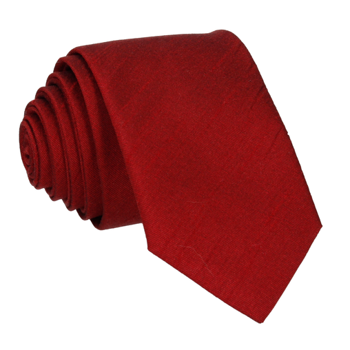 0bd9b379caff Faux Silk in Garnet Red Tie