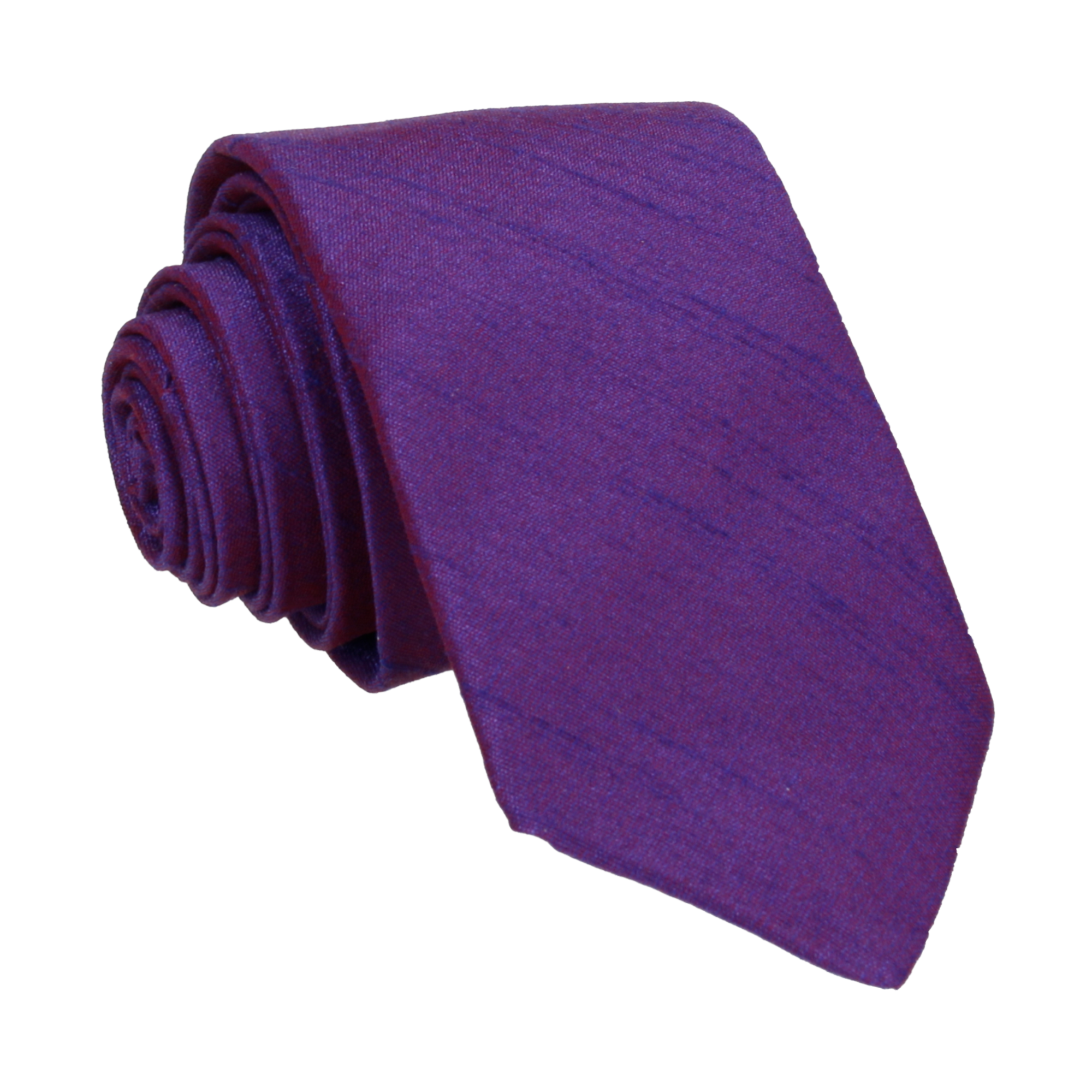 Faux Silk in Shot Purple Tie