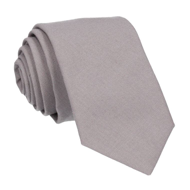 Cotton Light Grey Tie
